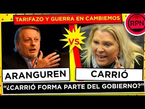 """Aranguren desmiente el cese de los aumentos y humilló a Carrió: """"¿forma parte del gobierno?"""""""