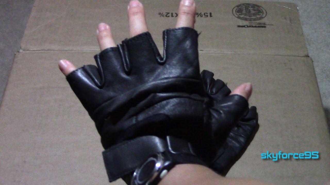 Fingerless gloves diy - Raider Black Leather Fingerless Gloves Review