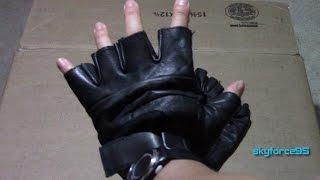 Raider Black Leather Fingerless Gloves Review