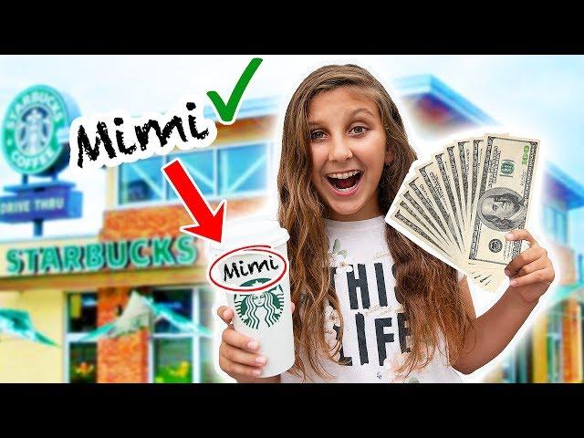 El que ESCRIBA mi NOMBRE gana $1000 - Reto STARBUCKS de Mimi Land