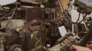 La linotype en action