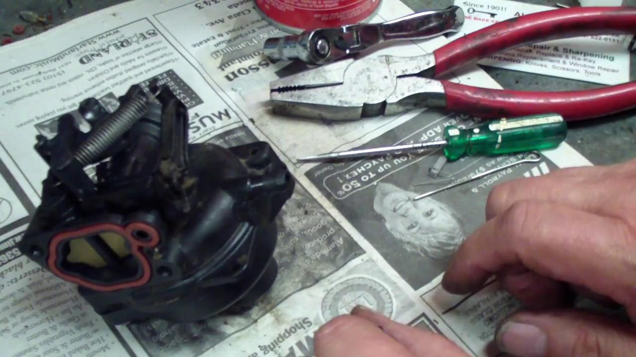 briggs and stratton black plastic carburetor how to lawnmower repair  [ 1280 x 720 Pixel ]