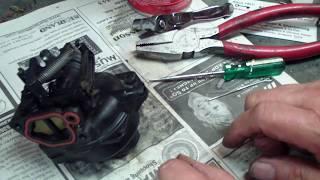 Briggs and Stratton Black Plastic Carburetor, How to. Lawnmower repair.