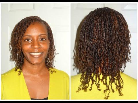 Natural Hair Two Strand Twist | *Pics