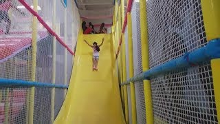 Indoor playground family fun play area for kids giant slides children play center - HZHtube Kids fun