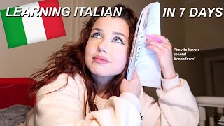 I LEARNED HOW TO SPEAK ITALIAN IN 7 DAYS.. (tips & conversation in italiano)