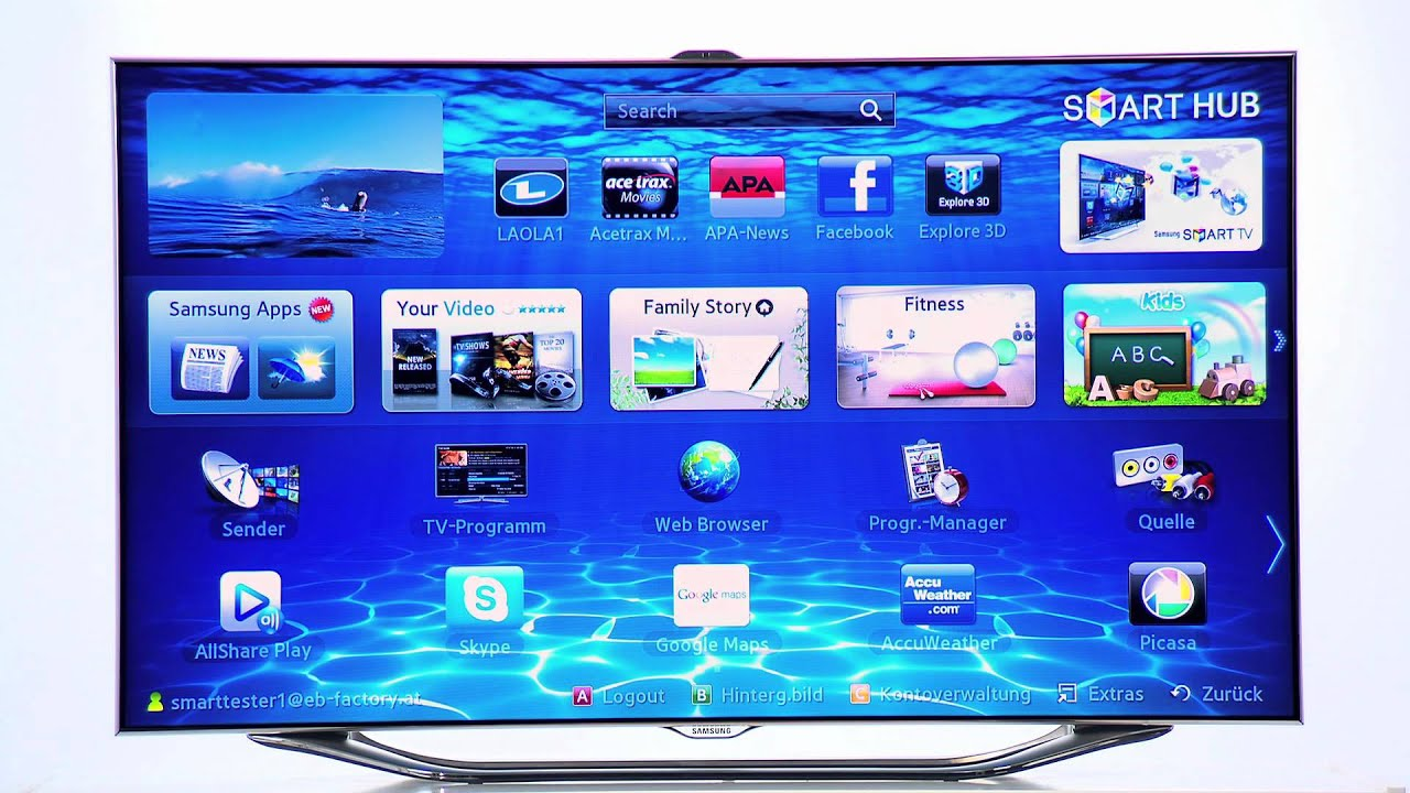 Samsung SMART TV - Samsung Apps [How-To-Video]