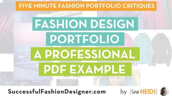 Fashion Design Portfolio A Professional Pdf Example Youtube