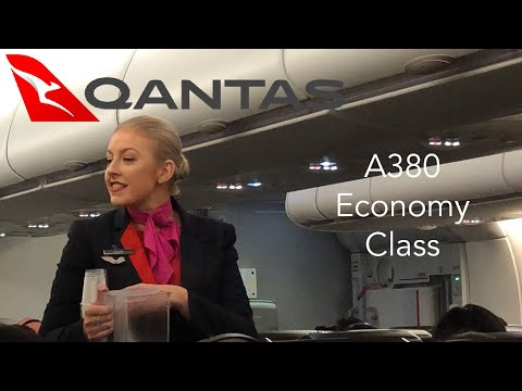QANTAS A380 Economy Class EXperience: QF118 Hong Kong To Sydney