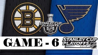 Boston Bruins vs St. Louis Blues | Final | Game 6 | Jun.09, 2019 | Stanley Cup 2019 | Обзор матча