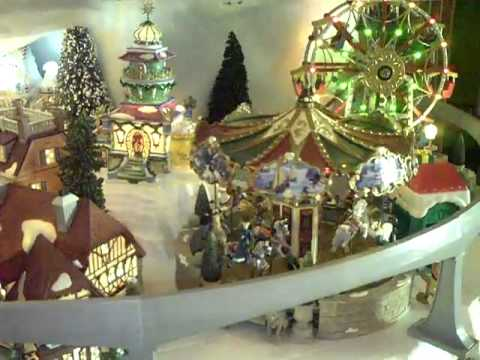 christmas village display disney inspired