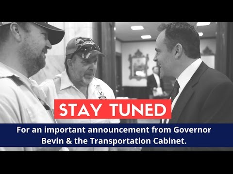 Governor Bevin & KY Transportation Cabinet Announcement - YouTube