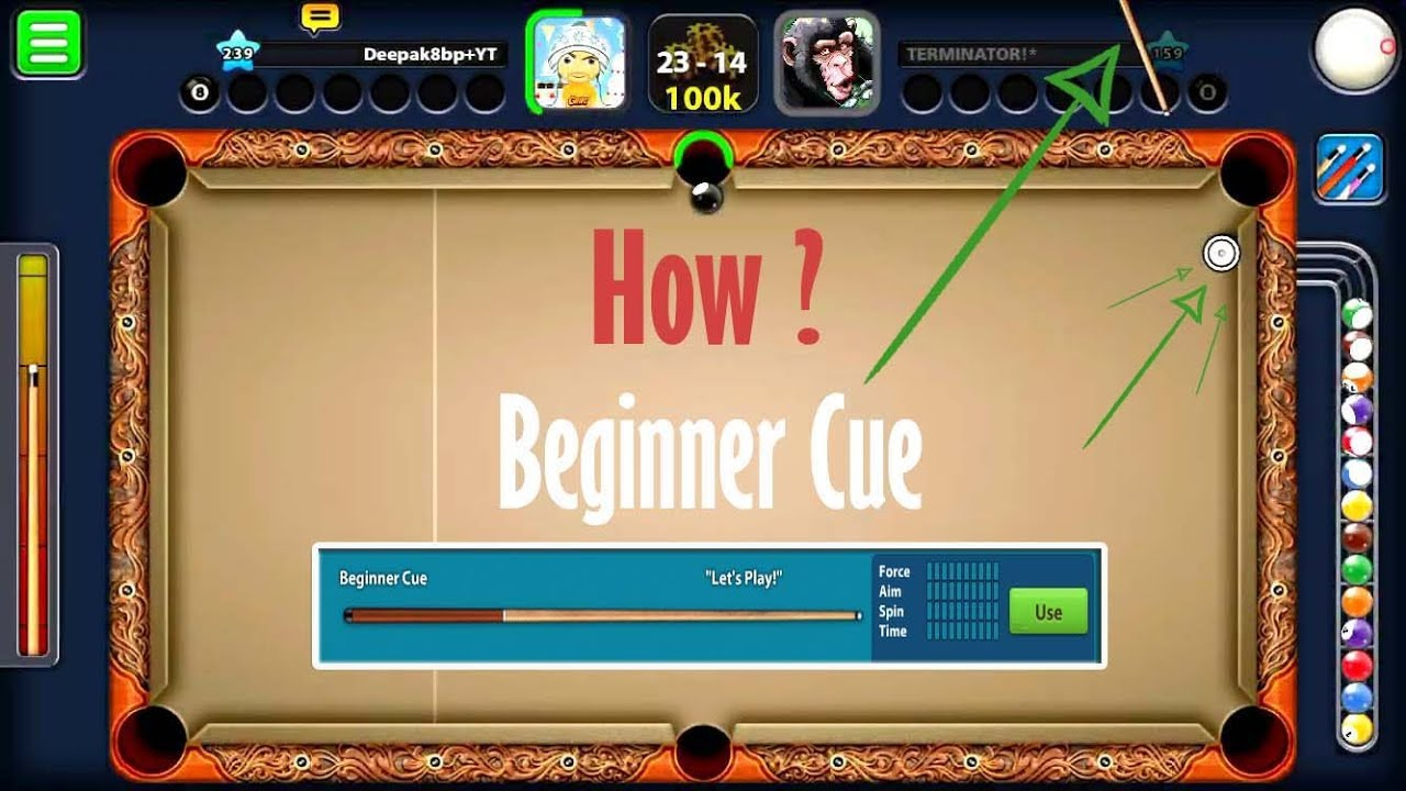 8 Ball Pool Learn How To Trick-Shot With Beginner Cue -How To Trickshot Episode 6-
