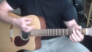 Collective Soul - Run Guitar Lesson (chords, strumming pattern)