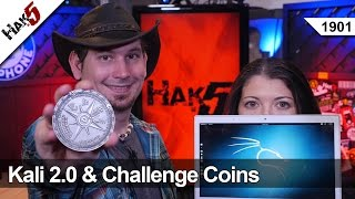 Kali 2 Review And Challenge Coins, Hak5 1901