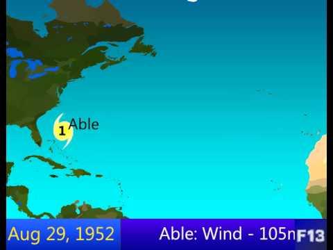 1952 Atlantic Hurricane Season Animation