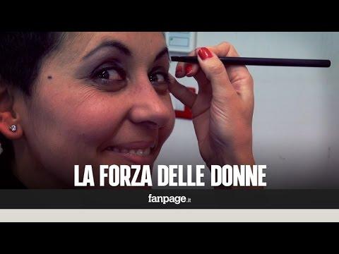 Le donne sfidano la chemio col make up:...