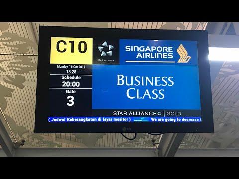 シンガポール航空  Singapore Airlines DPS(Bali)→SIN デンパサール→シンガポール