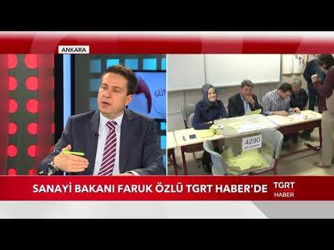 Sanayi Bakanı Faruk Özlü TGRT Haber'de