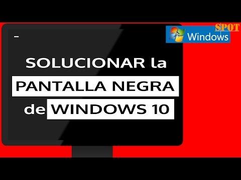 Reparar pantalla negra o solo con cursor de Windows 10