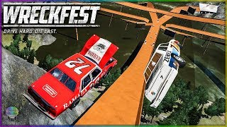 HOT WHEELS TRACK! | Wreckfest | NASCAR Legends Mod [Multiplayer]