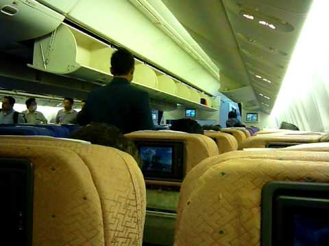Malaysia Airlines B777 cabin view and welcome announcement ...