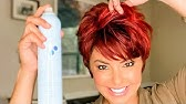 Short Hair Blowout Three Different Styles Dominique Sachse Youtube