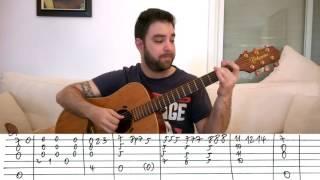 Fingerstyle Tutorial  Besame Mucho   Guitar Lesson w  TAB