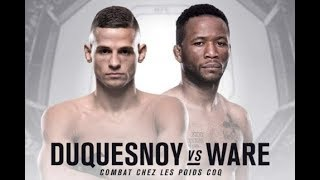 Terrion Ware vs Tom Duquesnoy - UFC Fight Night 127 - Betting Odds Picks & Preview