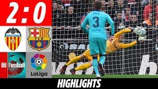 ter Stegen stark: Elfer gehalten & Super Parade | Valencia - Barcelona 2:0 | Highlights | LaLiga