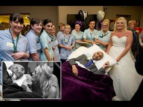 Cancer patient with days left to live marries girlfriend in emotional wedding
