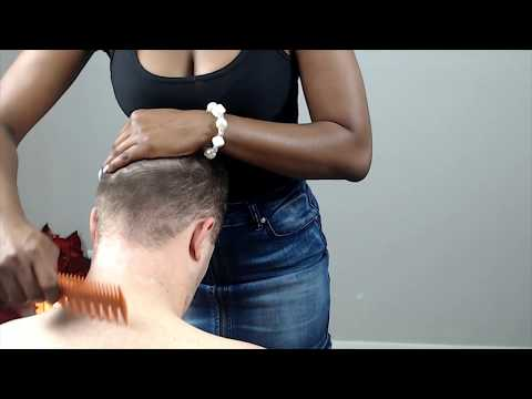 Ivory Gentlemen Spa: Head/Scalp/Ear massage/ dandruff check (long nails scratch).😘❤!