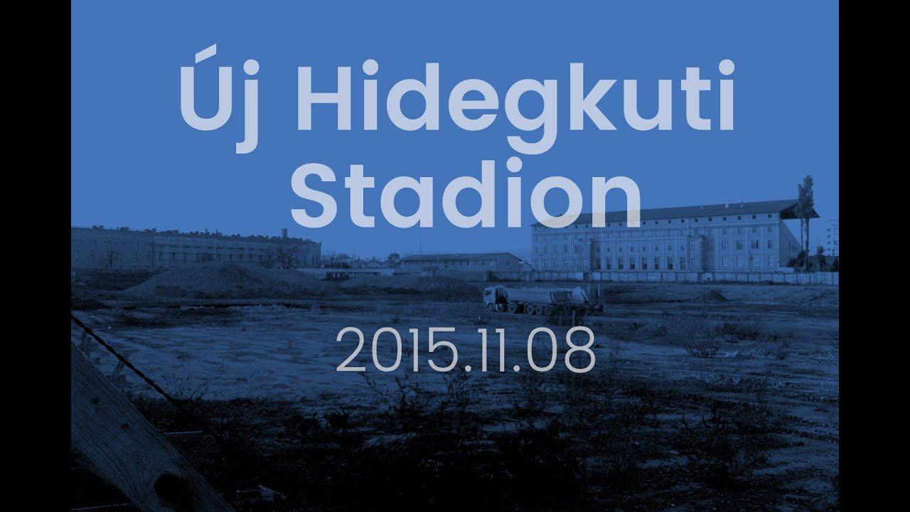 Building of the new Nandor Hidegkuti Stadium