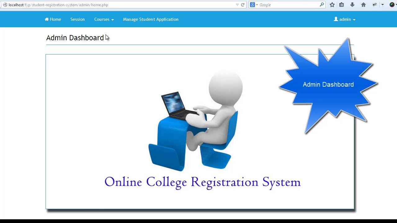 Online College Registration System With Php And Mysql