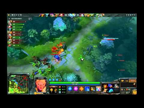 Dota 2 Gameplay: Farming Ancients with Invoker