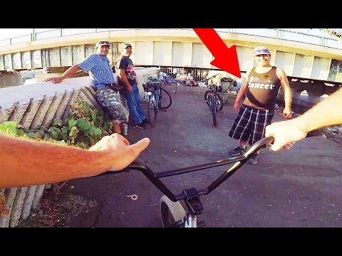 RIDING BMX IN LBC COMPTON GANG ZONE (BMX IN THE HOOD)