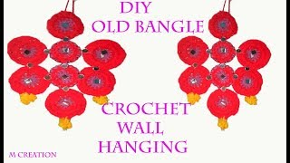 Diy Waste Bangle Crochet Wall Hanging