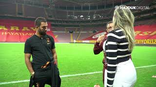 Arda Turan after game Galatasaray - Hajduk 2:0