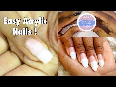 How To Do Acrylic Nails At Home - YouTube