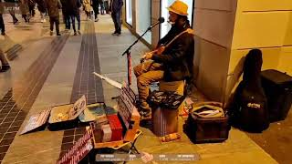 WISH YOU WHERE HERE - Edwin One Man Band - Live busking in Sanremo - 2020