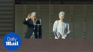 Japan's emperor makes final appearance before he abdicates