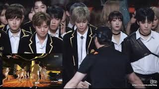Download Video MBC GAYO DAEJEJEON 2017 WANNA ONE reaction to SEVENTEEN's CLAP MP3 3GP MP4