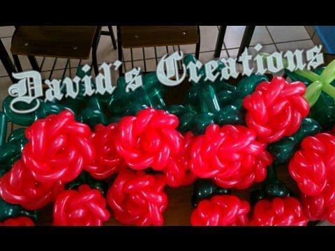 Como hacer una rosa con globos decoraciones con globos for Adornos colgar pared