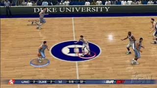 College Hoops 2K7 Xbox 360 Gameplay - Carolina at Duke