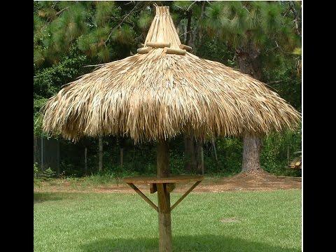 build a single pole tiki hut