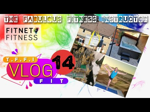 The Fabulous Fitness Instructor Vlog 14  // Hot tub arrives // Fitness and Hobbies