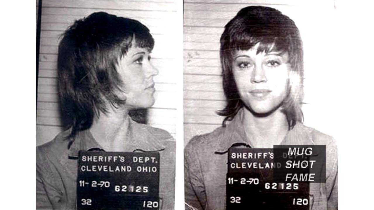 jane fonda  mug shot   youtube - jane fonda  mug shot
