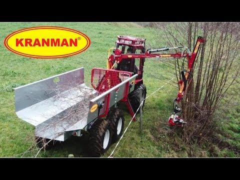 Kranman Bison 10000 med FL150 risflak och Nisula 105E klipp
