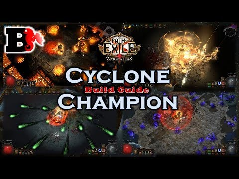 [3 3] CYCLONE CHAMPION * Path of Exile * Strong League Starter and Endgame  Build Guide