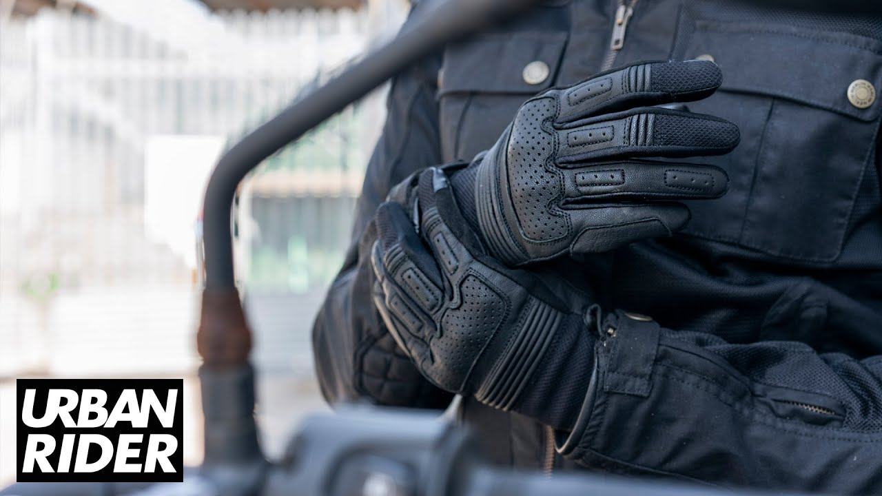Tucano Urbano Monty Touch Textile Gloves Motorbike Motorcycle Waterproof Black